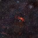 NGC 7635 Nebulosa Burbuja (Bubble Nebula) y Cúmulo M52 (M52 Cluster),                                Alfredo Beltrán