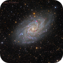 M33 Triangulum Galaxy In HaLRGB,                                Alberto Pisabarro