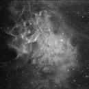 IC 405 The flaming star nebula in Hydrogen-Alpha,                                Jürgen Ehnes