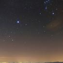 Orione e Cane Maggiore sulla Pianura Padana - Orione and Canis Major over the plain,                                valerio.zuffi