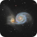 Messier 51 (Whirlpool Galaxy) in Canes Venatici,                                Steve Milne