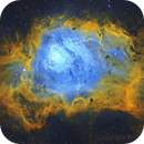 Messier 8 - Lagoon Nebula (Hubble Palette Combination - SHO),                                William Tan