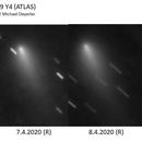 Development of  Comet C/2019 Y4 (ATLAS),                                Michael Deyerler