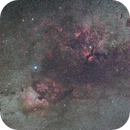 Cygnus the Swan wide field, stock EOS R, Tamron 70-200 G2 is amazing,                                Robert Huerbsch
