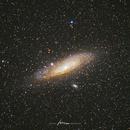 Andromeda Galaxy M31 with Canon 70-200 F4 lens,                                Oscar Shu