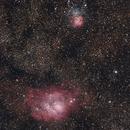 Lagoon & Trifid Nebulae,                                Wayne