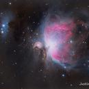 M42-Orion Nebula    ,                                Justin Daniel