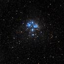 M45 Pleiades old data (2017) wide field / Canon 100Da + Samyang 135mm f/2.0 / SW star adventurer / 400ISO,                                patrick cartou