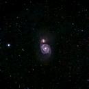 M51 - The Whirlpool Galaxy,                                Kurt Zeppetello