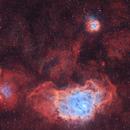 M8-M20- nébuleuses de la lagune et trifide HOO,                                astromat89