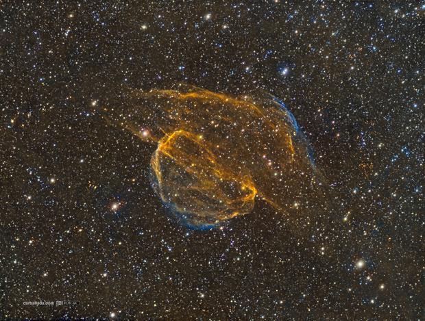SH2-224 Supernova remnant in Auriga. Sharpless 224 in HSTrgb,                                Jose Carballada