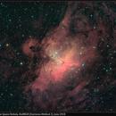 M16, Eagle/Star Queen Nebula, HαRRGB Using Starizona Methods, June 2018,                                David Dearden
