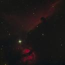 Horsehead Nebula, Flame Nebula at full moon,                                christian81