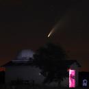 Comet Neowise over Mizar observatory,                                J_Pelaez_aab