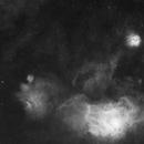 M8, M20, M21 in Ha, first light ASI6200MM Pro,                                kmachhi