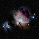 M 42 - Orion nebula and running man nebula,                                André Wiget