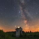 Historic chapel and the Milky Way,                                Łukasz Żak