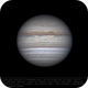 Jupiter 28 Apr 2018 14:48 UTC - North up,                                Seb Lukas