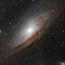Andromeda Galaxy - Three Panel Mosaic,                                Josh Woodward