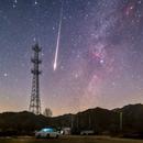 Fireball of Geminids meteor shower 2020,                                Steed Yu