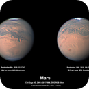Mars 9th & 10th September 2018 comparison images,                                Niall MacNeill