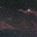 complesso velo nel Cigno con NGC6960 e triangolo di Pickering ,                                Ric