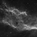 NGC1499 California Nebula Ha closeup debayered shot,                                Jocelyn Podmilsak