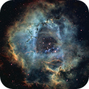 Rosette nebula is SHO with Ha as luminace,                                Mike