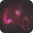 Flaming Star and Friends in HaLRGB (Reprocessed),                                Christopher Scott