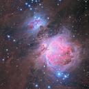 M42 : Great Orion Nebula (LRGB-Ha with 2 optics),                                Jean-Baptiste Auroux