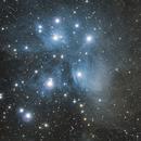 Pleiades Nebula ( M45 ) - Two Panel Mosaic,                                Khosro Jafarizadeh