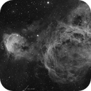 Gab Mistral NGC 3324, and part of NGC 3372, Hydrogen Alpha,                                Todd
