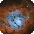 Lagoon Nebula in Bicolor,                                Paweł Radomski