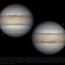Jupiter and Ganymede 19 Apr 2019 - 8 min WinJUPOS composite,                                  Seb Lukas