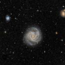 M61 avec NGC 4301 et NGC 4292,                                Roger Bertuli