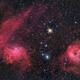 IC405, IC410 - The Flaming Star nebula,                                Giulio