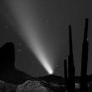 Comet C/2020 F3 Neowise 19 July 2020 w/ Landscape Masks,                                MJF_Memorial_Obse...