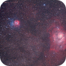 M8 Lagoon and M20 Triffid Nebulae region - 65mm Quadruplet on Avalon M-Zero,                                Agostino Lamanna