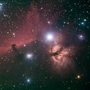 Horse head and Flame Nebula,                                David Quattlebaum