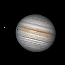 Jupiter, Io, and shadow transit July 17, 2021,                                Jim Lafferty