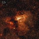 NGC6618 Omega or Swan Nebula,                                Ivan Hancock