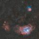 Lagoon and Trifid Nebula - HOO Widefield,                                Nico Augustin