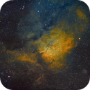 SH2-86 Cloud Sculpting Star Cluster (NGC6820-3) in HSTrgb,                                  Jose Carballada