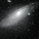 M31 Andromeda Galaxy through the 80mm refractor,                                mpcrabtree