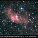 NGC 7635, Bubble Nebula, HαRRGB (UHC-S), 28 Jul & 8 Aug 2015,                                David Dearden