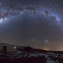 Milkyway Panorama outside of Cerro Tololo observatory staff residence,                    Samara
