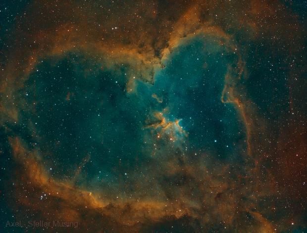 IC 1805 - The burning heart - SHO,                                Axel