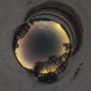 Stereographic projection Milky Way 360°,                                Łukasz Żak
