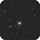 C/2020 T2 Palomar passes by Globular Cluster M3 - May 16 2021,                                Jason R Wait