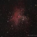 Eagle nebula and the Pillars of Creation,                                RCompassi